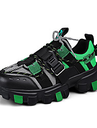 cheap -Men's Comfort Shoes Mesh Spring & Summer / Fall & Winter Sporty / Casual Athletic Shoes Running Shoes / Fitness & Cross Training Shoes Non-slipping Color Block Black / Yellow / Orange / Black / Dark