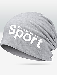 cheap -headwear running cap men's women's thermal / warm windproof breathable for running fitness jogging letter poly&cotton blend autumn / fall spring winter
