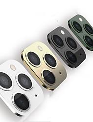Недорогие -AppleScreen ProtectoriPhone XS Зеркальная поверхность Протектор объектива камеры 1 ед. Закаленное стекло