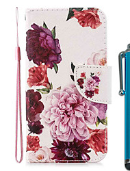 cheap -Case For Apple iPhone 11 / iPhone 11 Pro / iPhone 11 Pro Max Wallet / Card Holder / with Stand Full Body Cases Peony Flower PU Leather / TPU for iPhone 7 / 7 Plus / 8 / 8 Plus / X / XS / XR / Xs Max