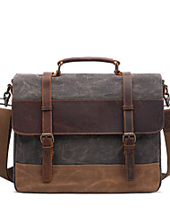 cheap -Men's Zipper Canvas Crossbody Bag Solid Color Army Green / Bronze / Dark Gray