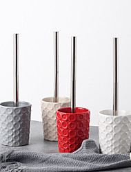 Недорогие -простая керамическая щетка для чистки туалетная щетка набор принадлежностей для ванной из нержавеющей стали
