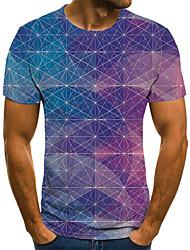 baratos -Homens Camiseta 3D / Arco-Íris Arco-íris