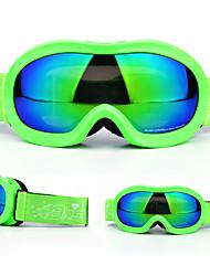 Недорогие -BASTO Лыжные очки для Детские Зимние виды спорта Водонепроницаемый Регулируемый размер
