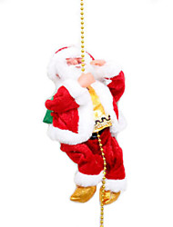 cheap -Christmas Gift Holiday People Santa Suits Sparkling Electric Soft Plastic Braided Fabric Kid's Toy Gift