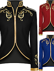 cheap -Prince Victorian Steampunk Napoleon Jacket Winter Suits & Blazers Men's Costume Black / Red / Blue Vintage Cosplay Party Halloween Long Sleeve / Coat