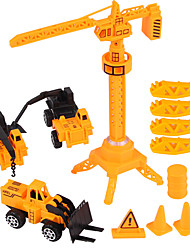 cheap -1:20 ABS Construction Truck Set Wheel Loader Toy Truck Construction Vehicle Toy Car Pull Back Vehicle Forklift Boys' Kid's Car Toys