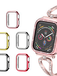 cheap -Crystal Bling Protective Case For Apple Watch Series 5/4/3/2/1 Diamond PC Screen Protector Cover Bumper