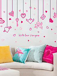 cheap -New SK7063 Heart-shaped Cupid Pendant Bedroom Living Room Background Decoration Removable Wall Sticker