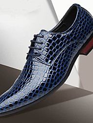 cheap -Men's Formal Shoes PU Spring & Summer / Fall & Winter Business / Casual Oxfords Walking Shoes Breathable Gradient Black / Red / Blue / Party & Evening