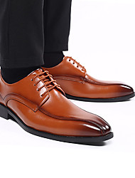 cheap -Men's Formal Shoes PU Spring & Summer / Fall & Winter Business / Vintage Oxfords Breathable Gradient Black / Brown / Wedding / Party & Evening