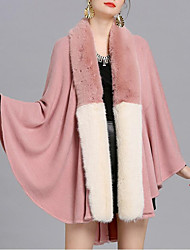 cheap -Sleeveless Capes Faux Fur / Imitation Cashmere / Knit Wedding / Party / Evening Women's Wrap With Split Joint / Fur