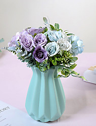 Недорогие -искусственный букет для украшения гортензии маленькие розы с цветами в руках поддельные цветы домашние свадебные украшения цветы