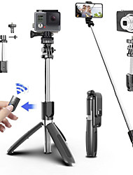 cheap -Tripod for phone Selfie artifact Bluetooth selfie stick Mobile phone telescopic rod self-timer Mobile phone live tripod bracket