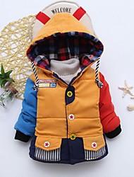 Недорогие -малыш Девочки Уличный стиль Контрастных цветов На пуховой / хлопковой подкладке Желтый