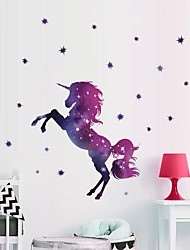 cheap -Unicorn Decorative Wall Stickers Animals / Stars Nursery / Kids Room 45*27cm