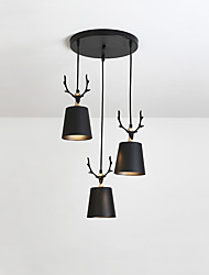 cheap -3-Light 13 cm Chandelier Metal Sputnik Painted Finishes Traditional Classic Country 110-120V 220-240V