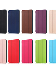 cheap -Phone Case For Huawei MediaPad Full Body Case Huawei Mediapad T5 10 Huawei Mediapad M5 Lite 10 Origami Solid Colored PU Leather