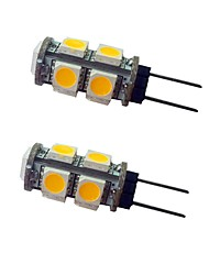 cheap -2pcs 1.5 W LED Bi-pin Lights 120 lm G4 9 LED Beads SMD 5050 Warm White White 12 V