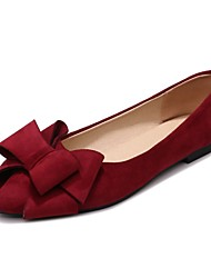 cheap -Women's Flats Flat Heel Pointed Toe Bowknot Synthetics Spring &  Fall Black / Red