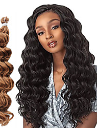cheap -Costume Accessories Synthetic Extentions Wavy Box Braids Blonde Synthetic Hair Braiding Hair 1 Piece / The hair length in the picture is 18 inch.