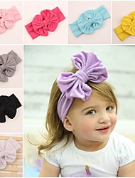 cheap -Toddler / Infant Boys' / Girls' Active / Sweet Solid Colored Bow / Classic / Retro Cotton Hair Accessories Black / Light Blue / White One-Size