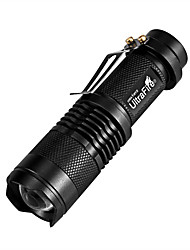 cheap -UltraFire SK68 300lm 3 Modes White Light Outdoor Lights Zoom 14500 / AA LED Flashlight-Black