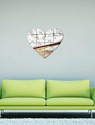 Недорогие -Современная акриловая зеркальная поверхность 3d простой большой размер декор стен наклейки для гостиной спальня тв отделка стен съемный