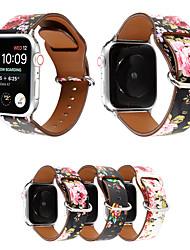 Недорогие -ремешок для печати для apple watch band 38mm 40mm 42mm 44mm цветочный цветок силиконовый пояс для серии iwatch 5 4 3 2 1 браслет