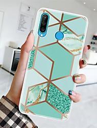 cheap -Case For Huawei P20 Pro/P20 lite/P30 Ultra-thin / Pattern Back Cover Geometric Pattern / Marble TPU For Huawei P30 Lite/P30 Pro/P Smart Z/P Smart Plus/P Smart 2019/P8 Lite 2017/P10 Lite