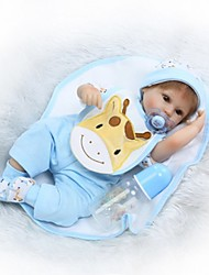cheap -NPK DOLL Reborn Doll Baby 14 inch Silicone Vinyl - lifelike Cute Hand Made Child Safe Non Toxic Lovely Kid's Girls' Toy Gift / Parent-Child Interaction / CE Certified / Natural Skin Tone