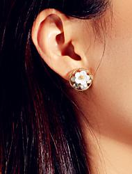 cheap -Women's Earrings Geometrical Flower Love Happy Artistic Sweet Modern Cute Elegant Imitation Pearl Earrings Jewelry Golden For Wedding Engagement Gift Daily Festival 1 Pair