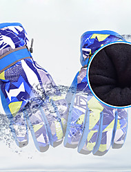 cheap -Ski Gloves Men's Women's Snowsports Full Finger Gloves Winter Waterproof Windproof Warm Flocked Snowsports Winter Sports