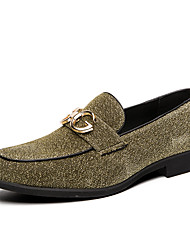 cheap -Men's Formal Shoes PU Spring & Summer / Fall & Winter Casual / British Loafers & Slip-Ons Black / Silver / Green / Party & Evening