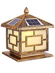 cheap -Solar Column Head Lamp LED Double Color Remote Control 25CM Village Street Lamp Garden Villa Gate Pillar Lamp Outdoor Courtyard Wall Lamp