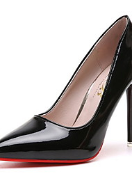 cheap -Women's Heels Pumps Pointed Toe Business Classic Daily PU Solid Colored Summer Almond Black Red / 3-4