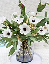 abordables -fleur artificielle pu rose mariée mariage photographie décoration 2 bâtons