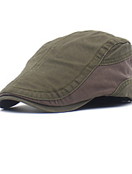 cheap -Men's Basic Polyester Beret Hat-Color Block Black Brown Green