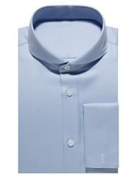 Недорогие -голубая хлопковая рубашка из твила