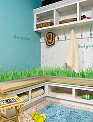 cheap -SK7090 grass butterfly baseboard wall stickers bedroom living room bathroom cabinet doors and windows background decorative stickers