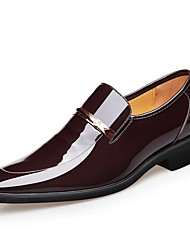 cheap -Men's Formal Shoes Patent Leather Spring & Summer Loafers & Slip-Ons Black / Brown