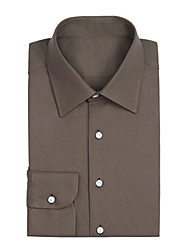 cheap -Green Olive Twill Anti-Wrinkle Shirt