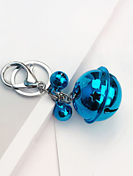 cheap -four bells style key ring bluish green silver toys