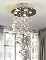 cheap -5-Light Flush Mount Ambient Light Chrome Metal Crystal 110-120V / 220-240V Bulb Included / GU10