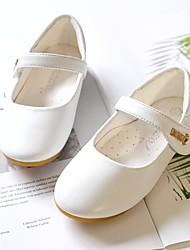 cheap -Girls' Comfort Microfiber Flats Toddler(9m-4ys) / Little Kids(4-7ys) Walking Shoes Studded Black / White Spring / Fall