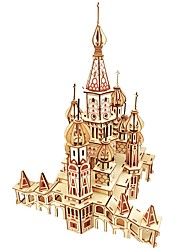 cheap -3D Puzzle / Jigsaw Puzzle / Model Building Kit Castle / Famous buildings / House DIY Wooden Classic Kid's Unisex Gift