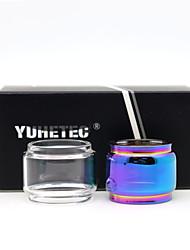 Недорогие -Yuhetec замена жира стеклянный резервуар для vaporesso NRG SE бак Smok TFV8 Baby TFV12 ребенка принц спирали Vape Pen 22 Moonshot 2 шт.