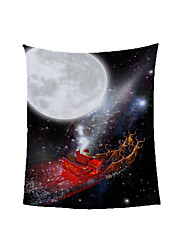 cheap -Santa Claus Snow Fleece Blanket Quilt Winter Thickened Nap Blanket Dormitory Coral Fleece for Student
