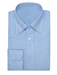 cheap -Pure Sea Blue Oxford Button Down Shirt