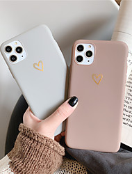 cheap -Heart Couple Phone Case for Apple iPhone 12 Pro Max Soft Slim Protective Case Shockproof Solid Colored TPU Back Cover for iPhone 11 Pro Max/X/XS XR XS Max 7 Plus/8 Plus